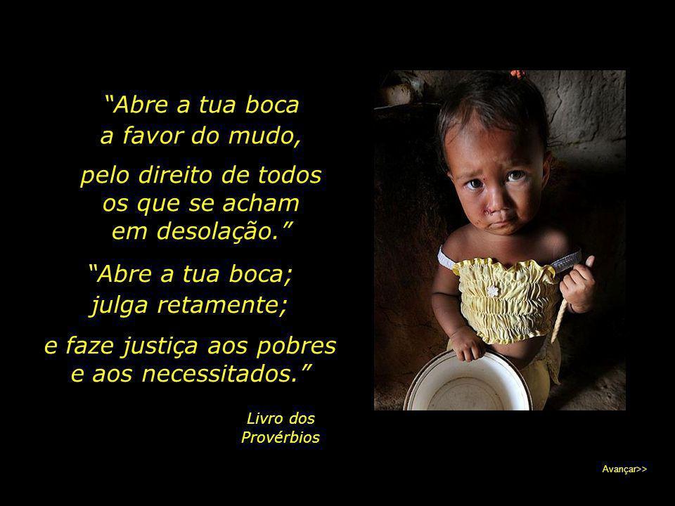 e faze justiça aos pobres