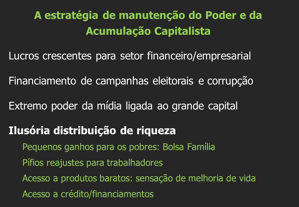 A estratégia de manutenção do Poder e da Acumulação Capitalista