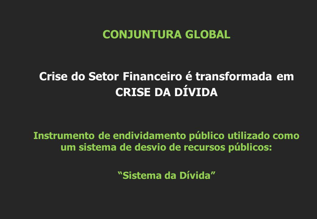 Crise do Setor Financeiro é transformada em CRISE DA DÍVIDA