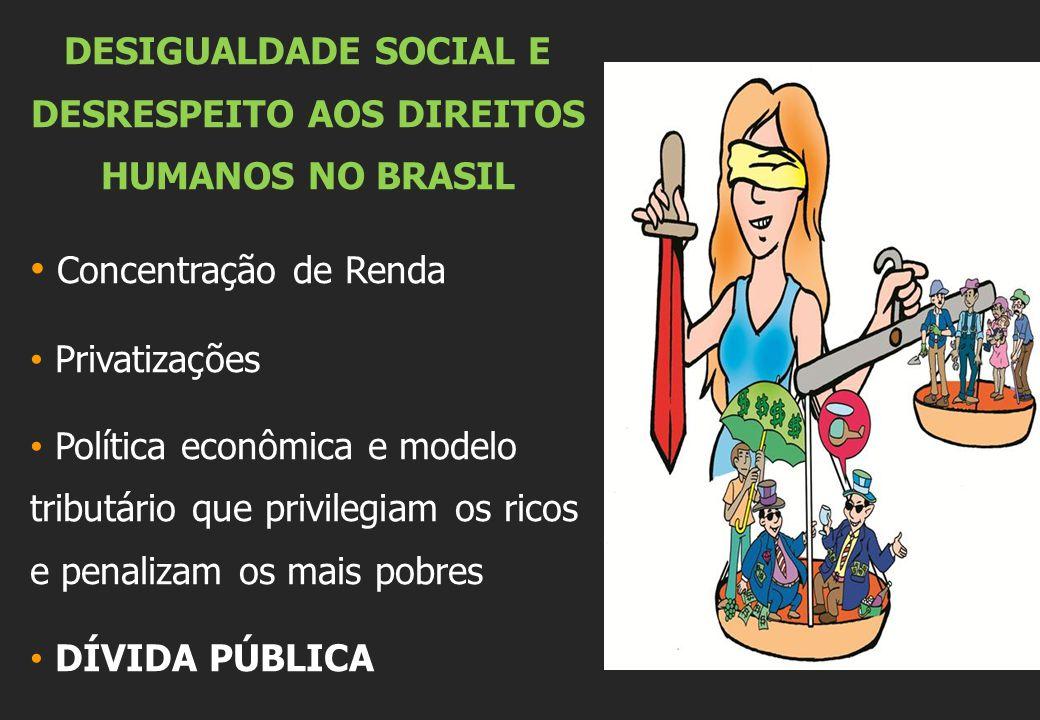 DESIGUALDADE SOCIAL E DESRESPEITO AOS DIREITOS HUMANOS NO BRASIL