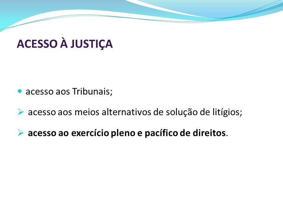 ACESSO À JUSTIÇA acesso aos Tribunais;