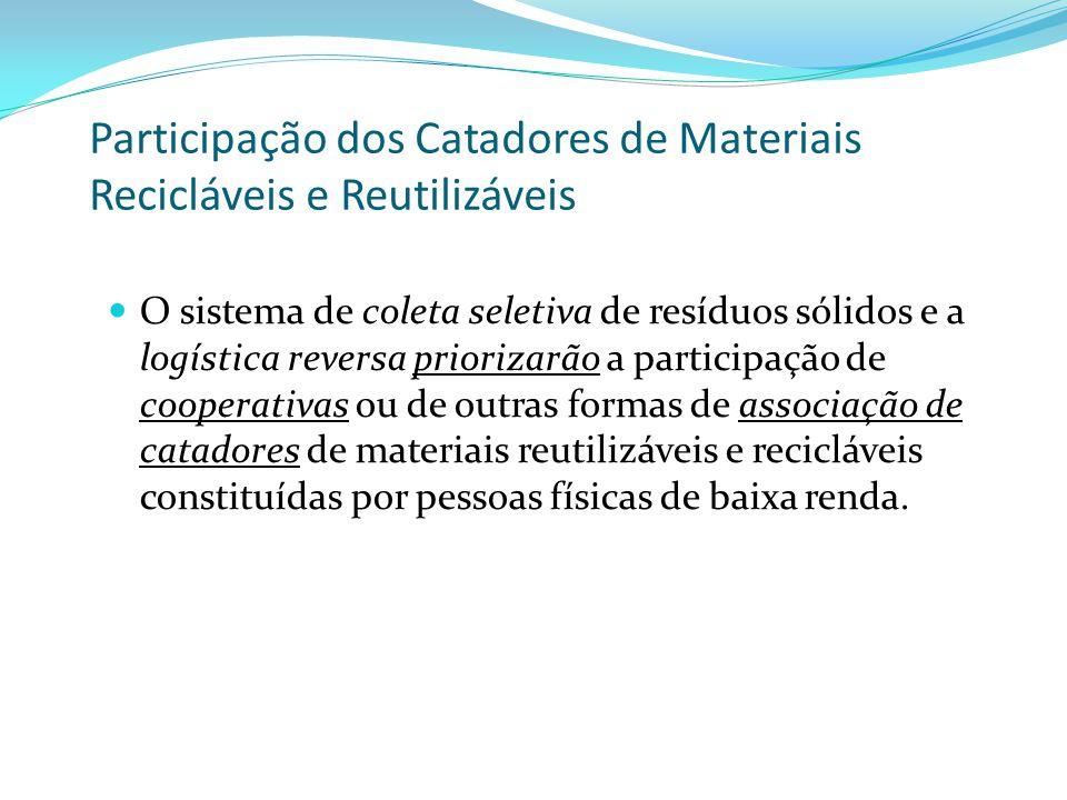 Participação dos Catadores de Materiais Recicláveis e Reutilizáveis