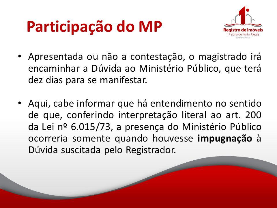 Participação do MP