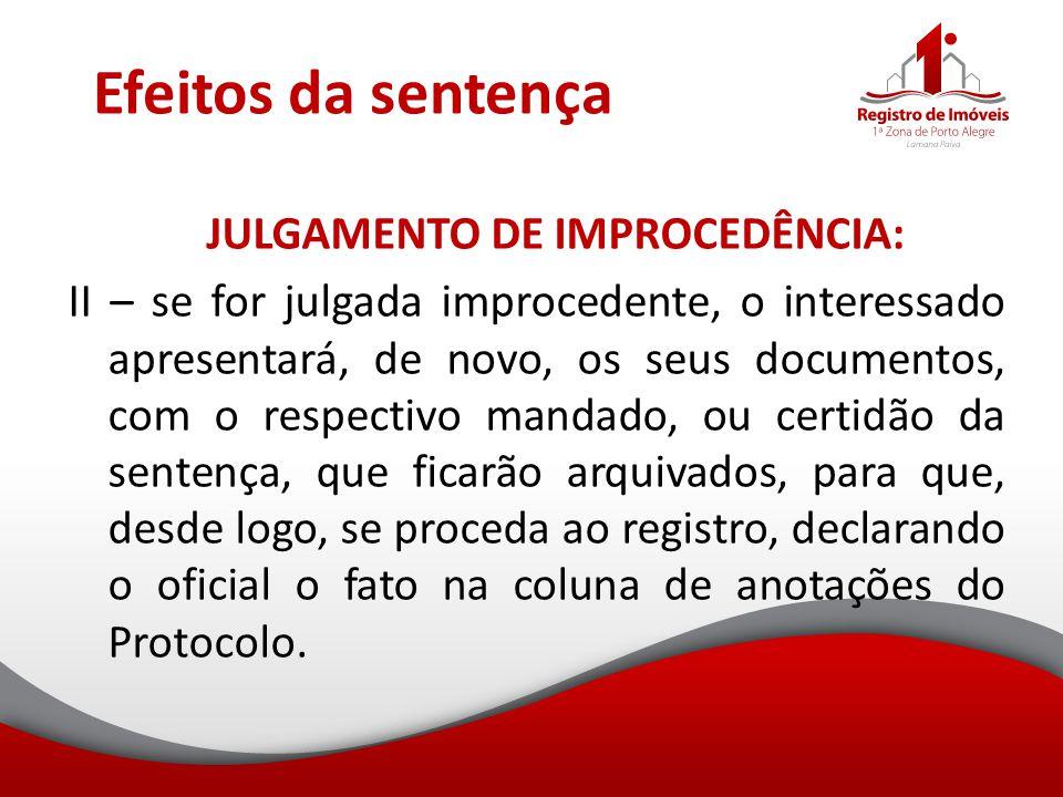Efeitos da sentença