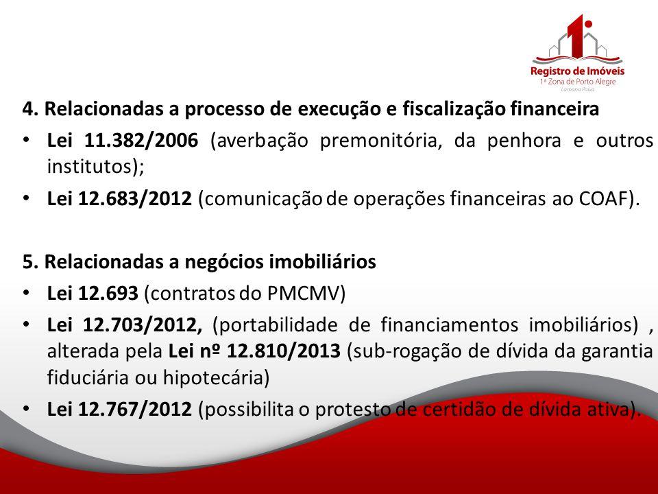 4. Relacionadas a processo de execução e fiscalização financeira