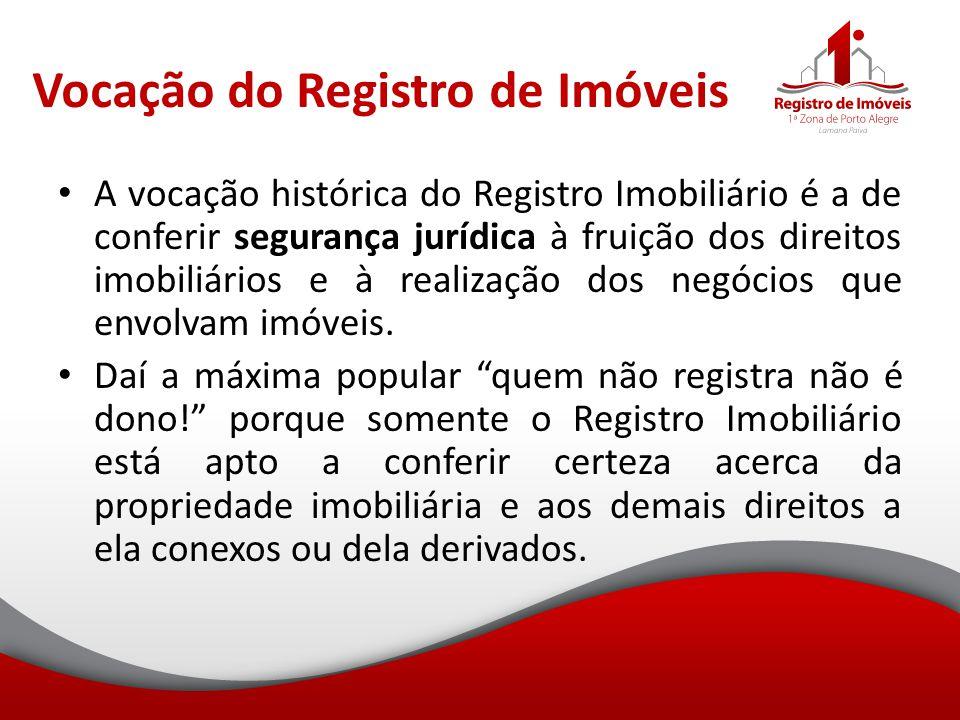 Vocação do Registro de Imóveis
