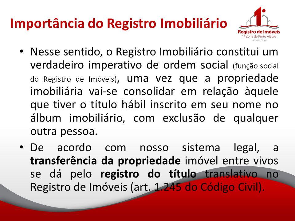 Importância do Registro Imobiliário