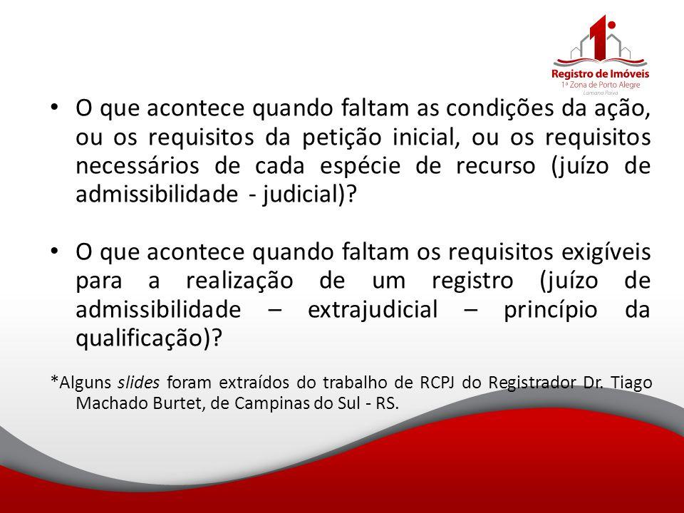 O que acontece quando faltam as condições da ação, ou os requisitos da petição inicial, ou os requisitos necessários de cada espécie de recurso (juízo de admissibilidade - judicial)