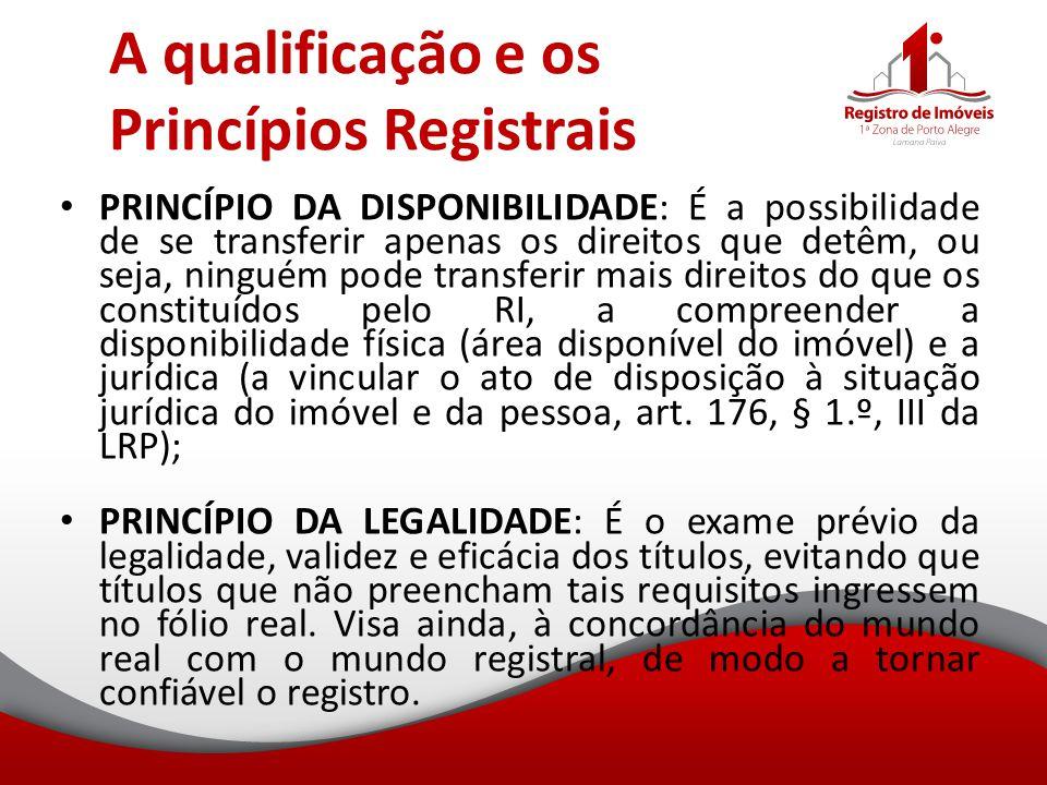 A qualificação e os Princípios Registrais
