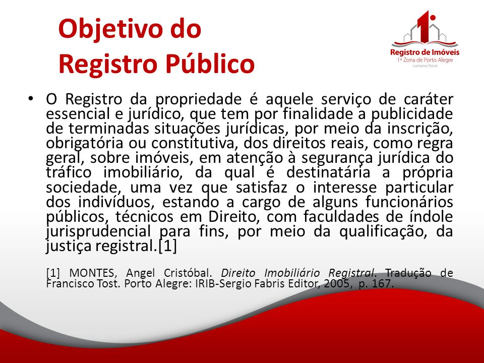 Objetivo do Registro Público