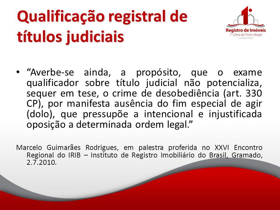 Qualificação registral de títulos judiciais