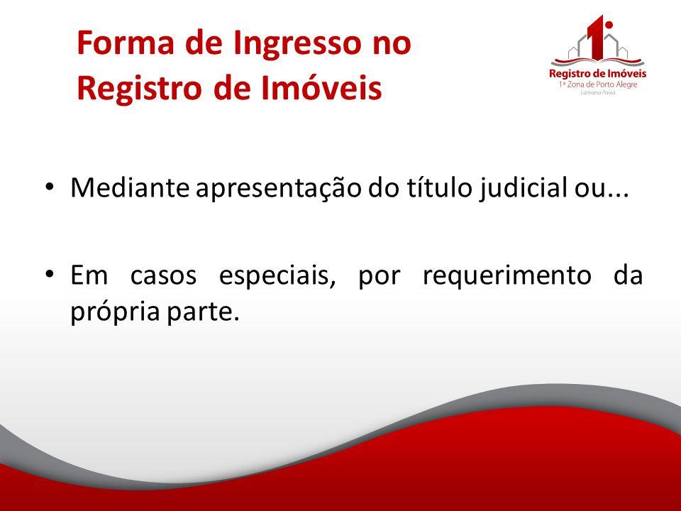 Forma de Ingresso no Registro de Imóveis