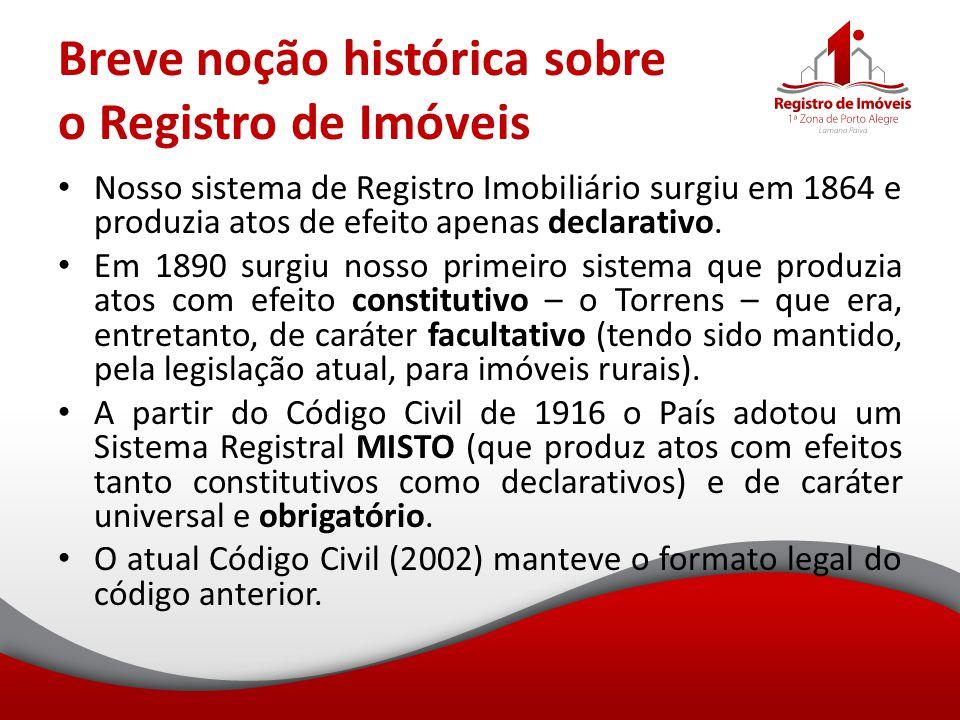 Breve noção histórica sobre o Registro de Imóveis