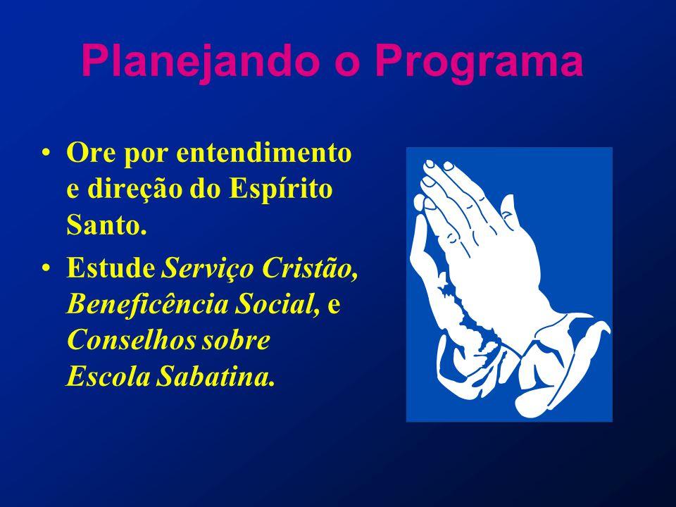Planejando o Programa Ore por entendimento e direção do Espírito Santo.