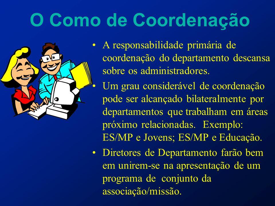 O Como de Coordenação A responsabilidade primária de coordenação do departamento descansa sobre os administradores.