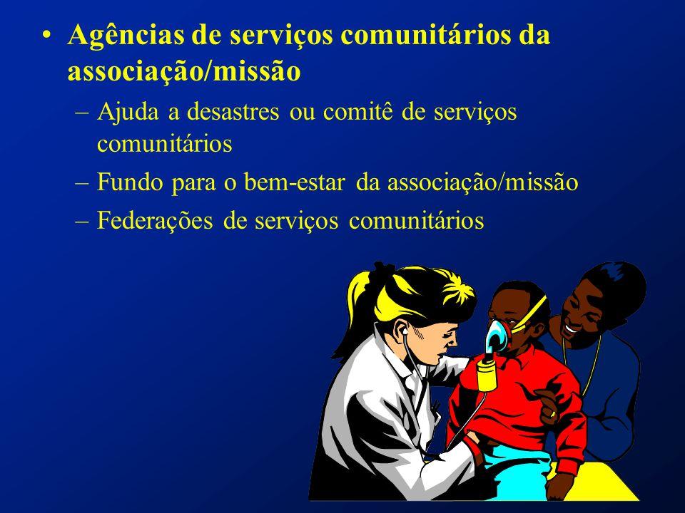 Agências de serviços comunitários da associação/missão