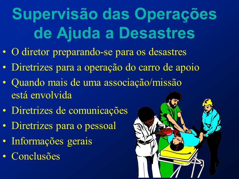 Supervisão das Operações de Ajuda a Desastres