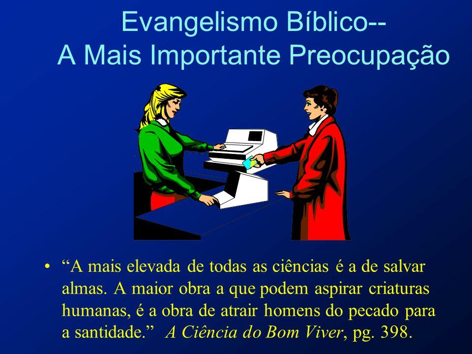 Evangelismo Bíblico-- A Mais Importante Preocupação