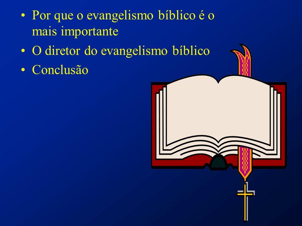 Por que o evangelismo bíblico é o mais importante