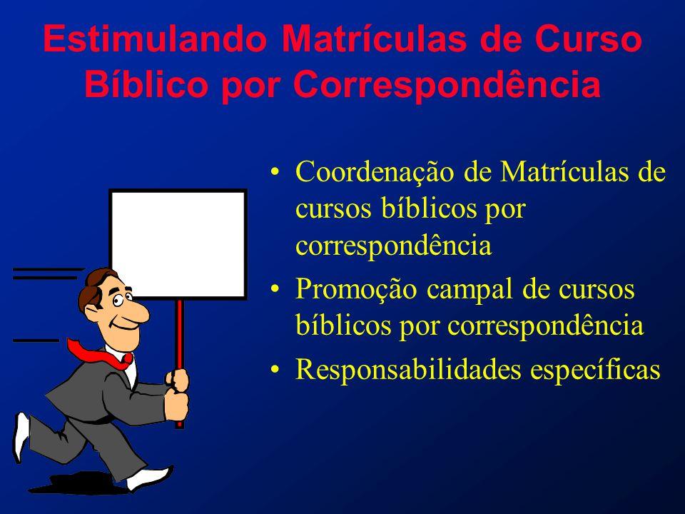 Estimulando Matrículas de Curso Bíblico por Correspondência