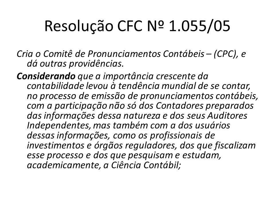 Resolução CFC Nº 1.055/05