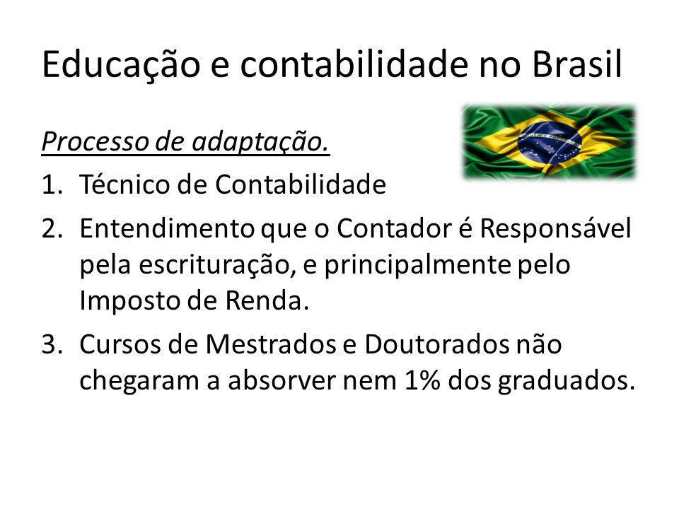 Educação e contabilidade no Brasil