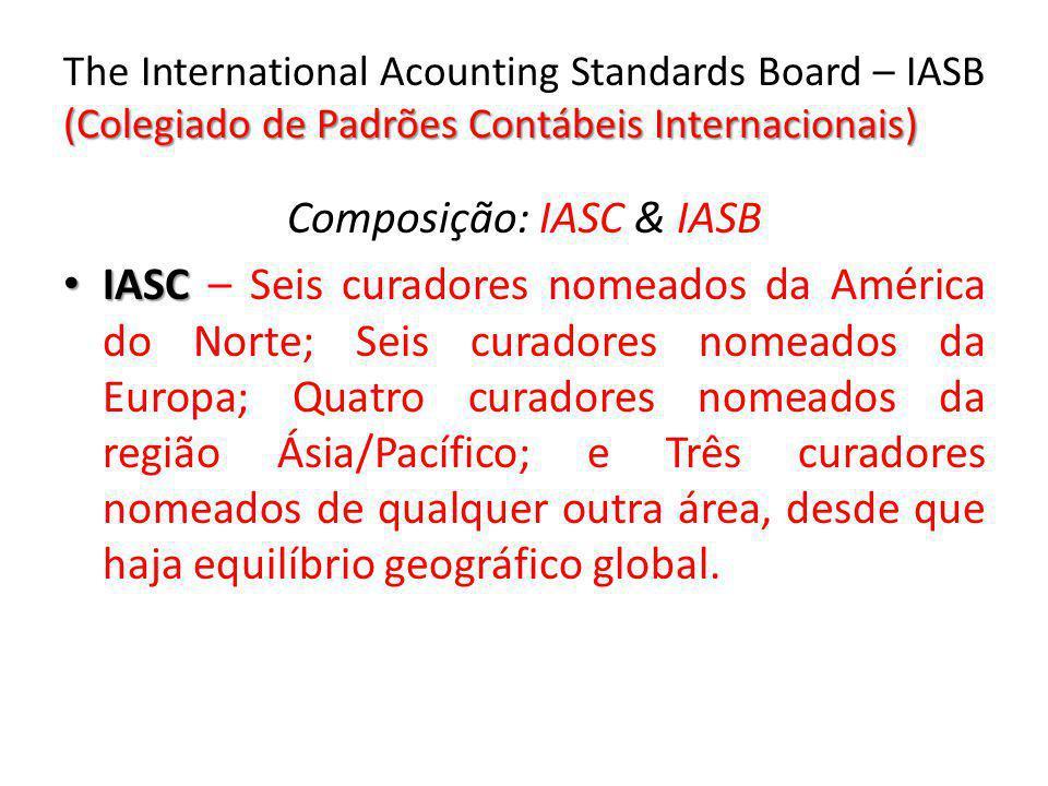 Composição: IASC & IASB