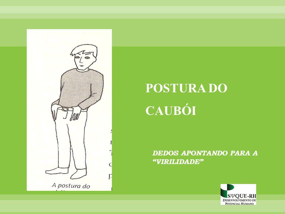 POSTURA DO CAUBÓI DEDOS APONTANDO PARA A VIRILIDADE