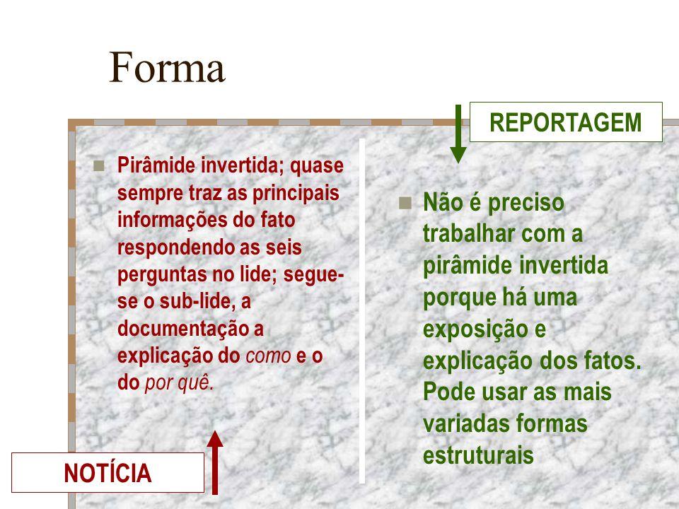 Forma REPORTAGEM.