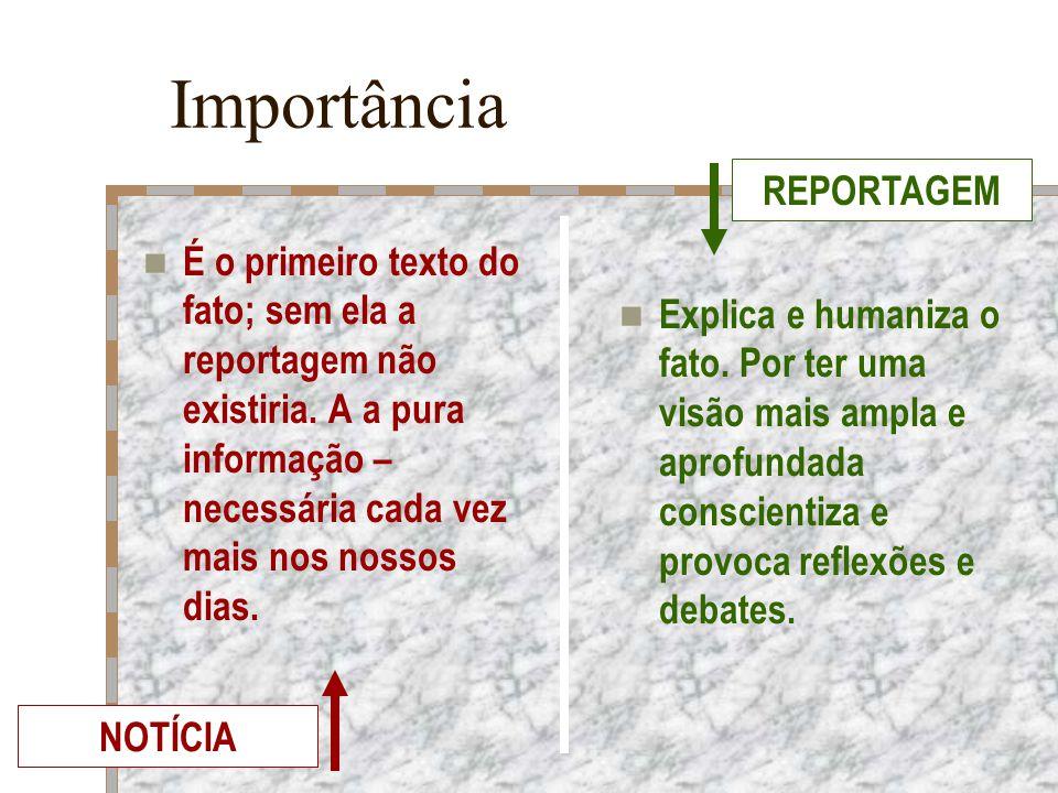Importância REPORTAGEM