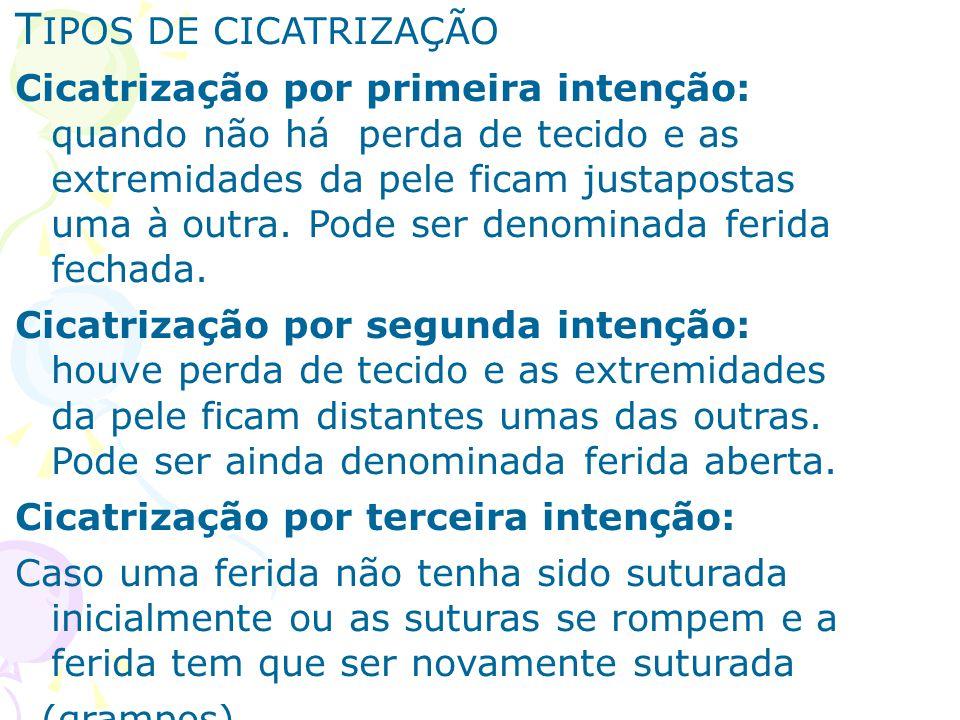TIPOS DE CICATRIZAÇÃO