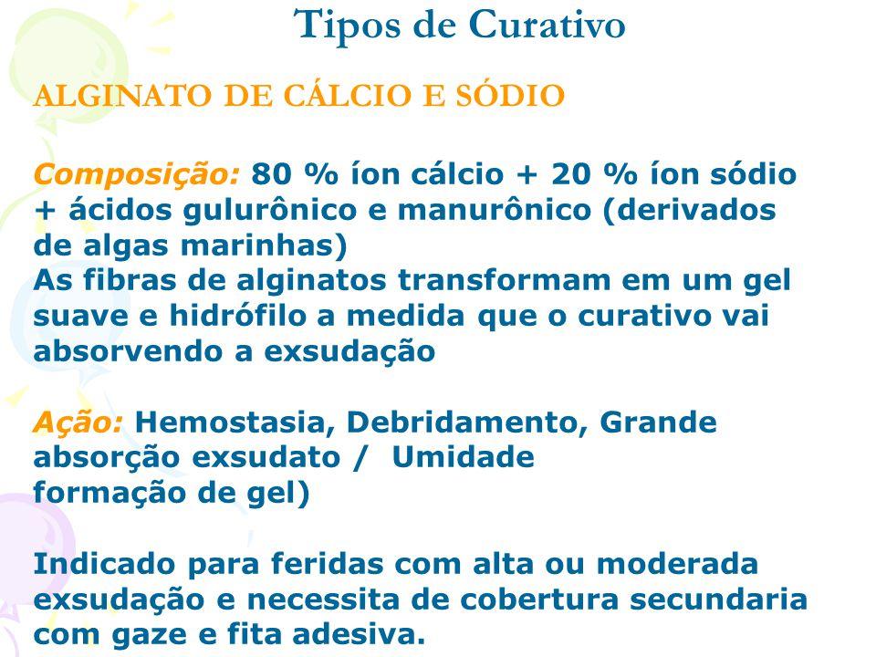 Tipos de Curativo ALGINATO DE CÁLCIO E SÓDIO