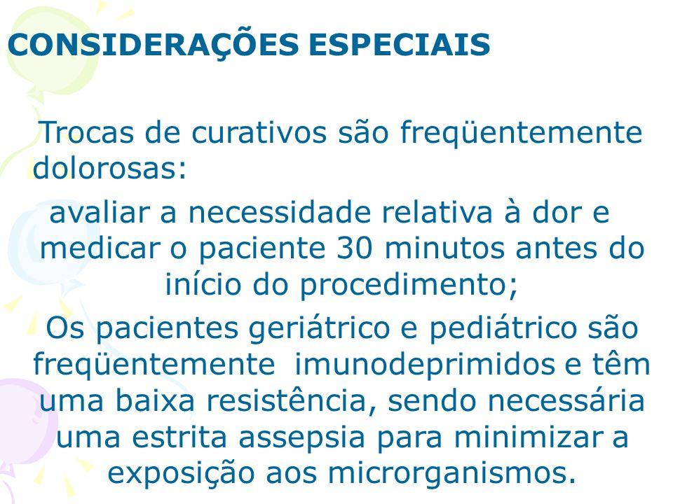 CONSIDERAÇÕES ESPECIAIS