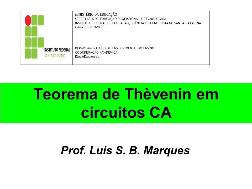 Teorema de Thèvenin em circuitos CA