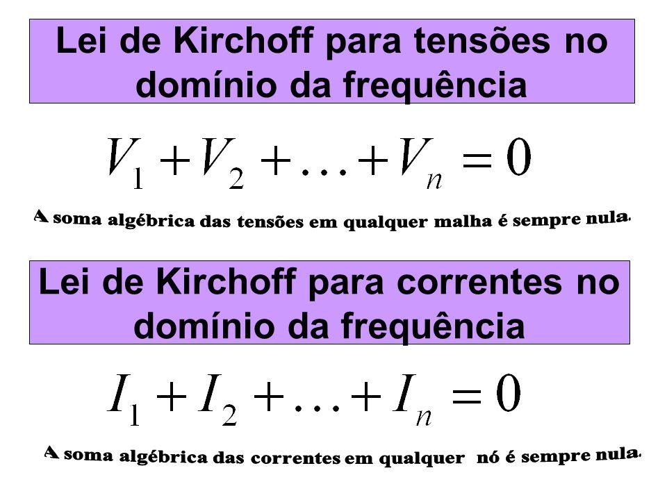Lei de Kirchoff para correntes no domínio da frequência