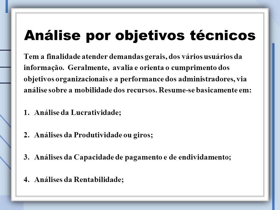 Análise por objetivos técnicos