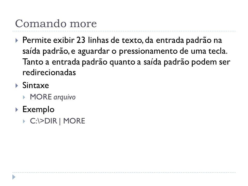 Comando more