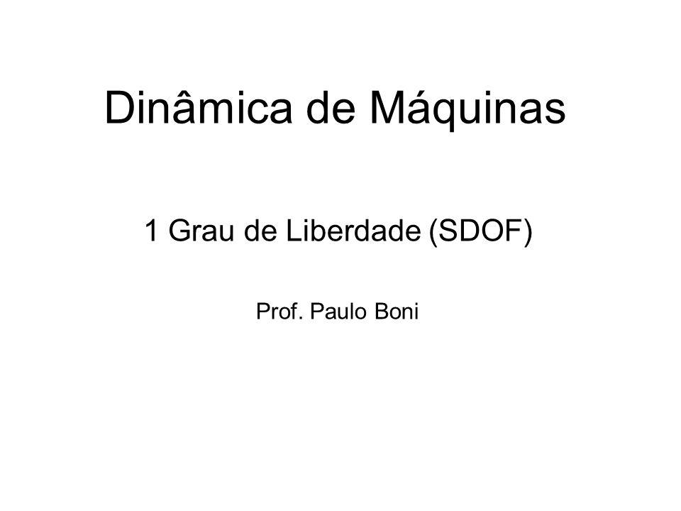 1 Grau de Liberdade (SDOF) Prof. Paulo Boni