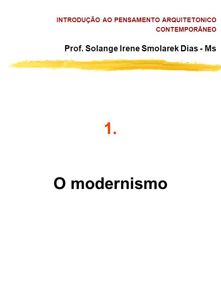 INTRODUÇÃO AO PENSAMENTO ARQUITETONICO CONTEMPORÂNEO Prof