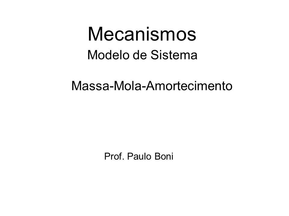 Modelo de Sistema Massa-Mola-Amortecimento