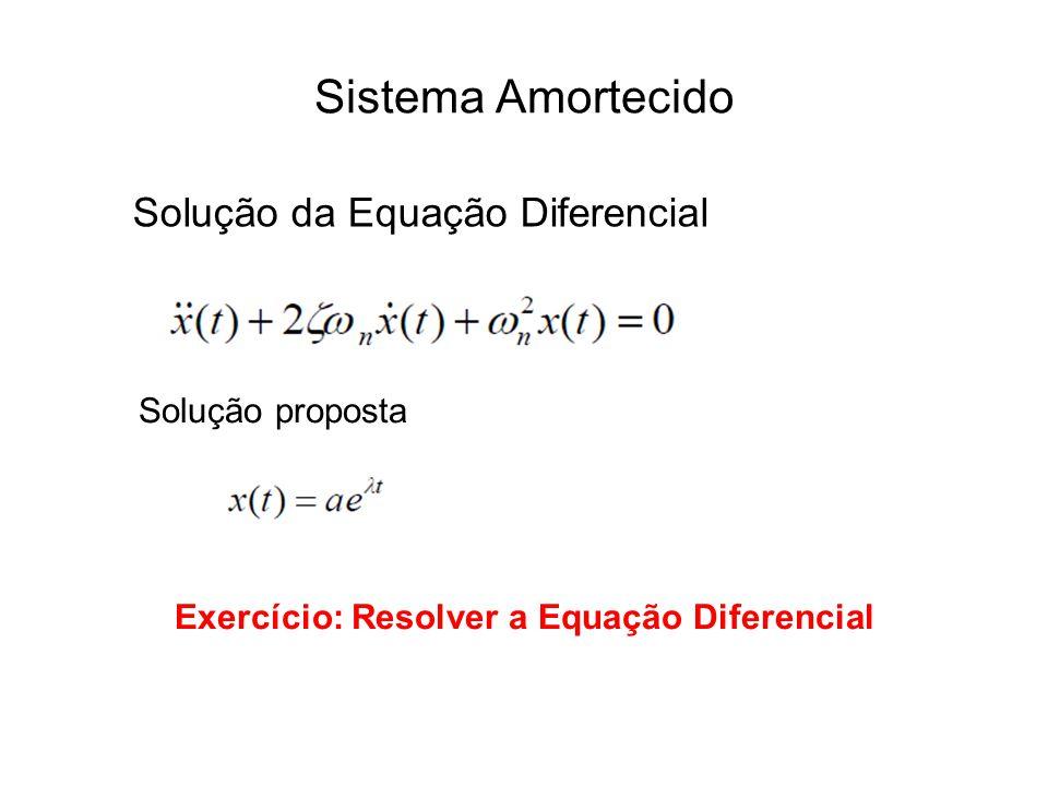 Exercício: Resolver a Equação Diferencial