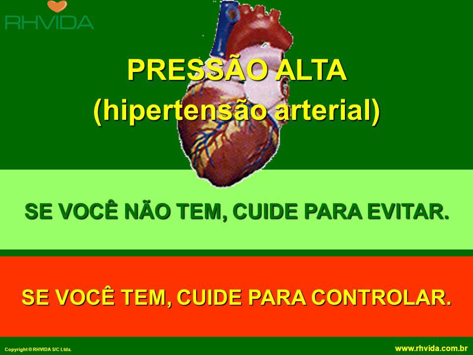 PRESSÃO ALTA (hipertensão arterial)