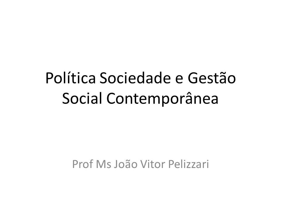 Política Sociedade e Gestão Social Contemporânea