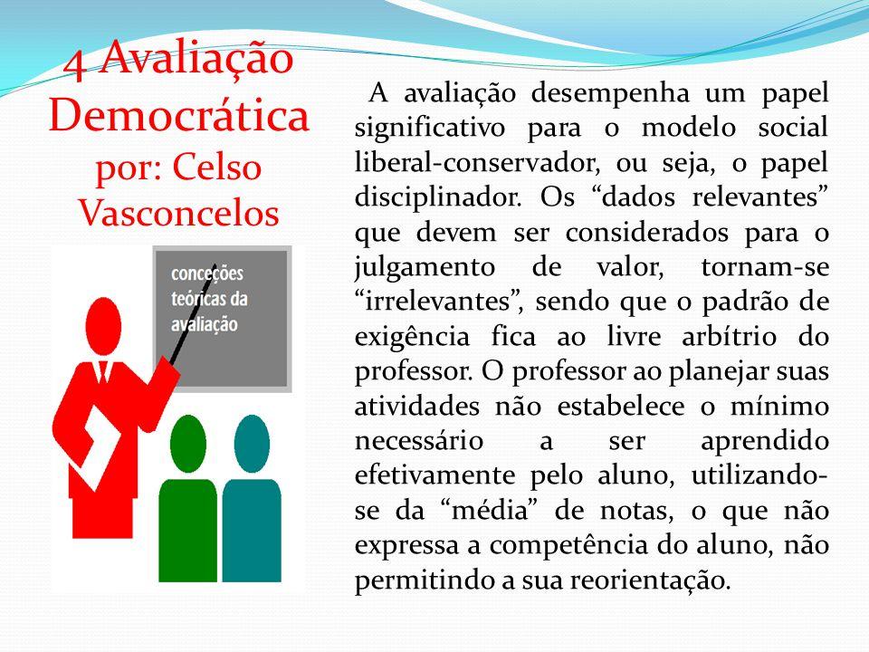 4 Avaliação Democrática por: Celso Vasconcelos