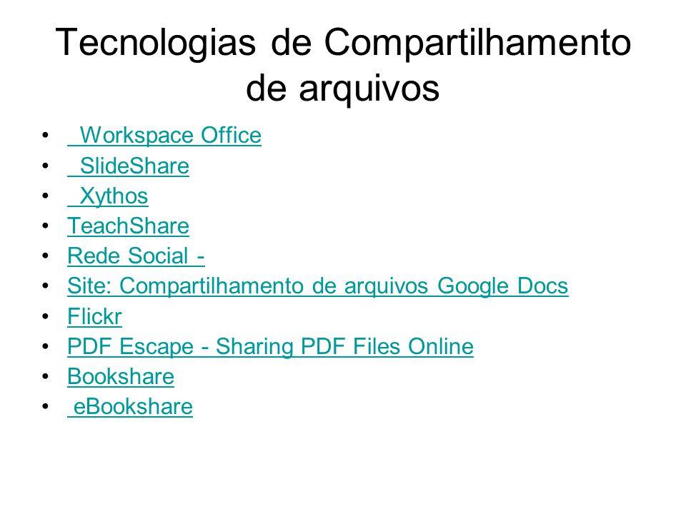 Tecnologias de Compartilhamento de arquivos