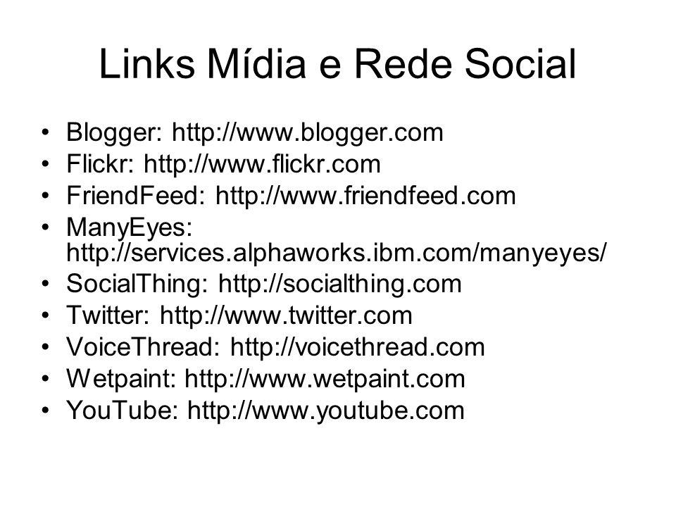 Links Mídia e Rede Social