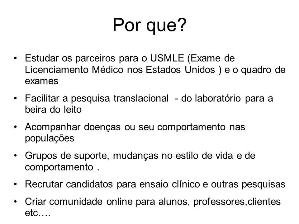 Por que Estudar os parceiros para o USMLE (Exame de Licenciamento Médico nos Estados Unidos ) e o quadro de exames.