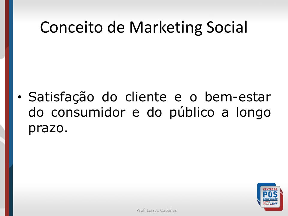 Conceito de Marketing Social