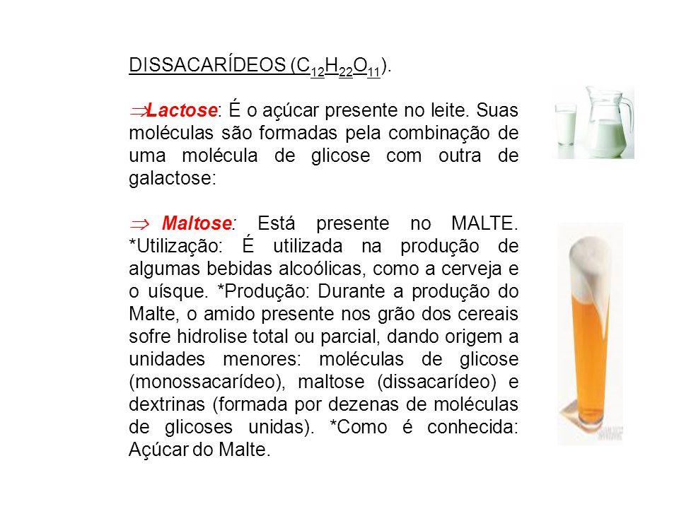 DISSACARÍDEOS (C12H22O11).