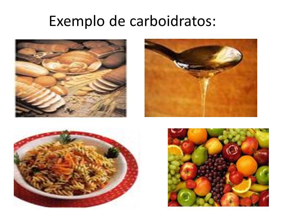 Exemplo de carboidratos: